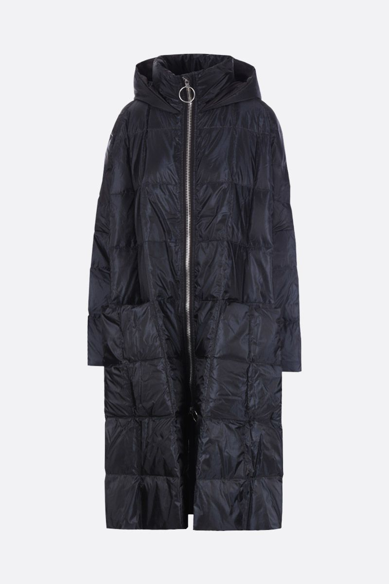 IENKI IENKI: Pyramide long down jacket in nylon Color Black_1