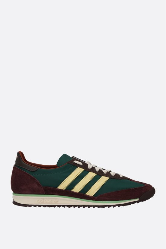 ADIDAS STATEMENT: Wales Bonner SL72 nylon and suede sneakers Color Multicolor_1