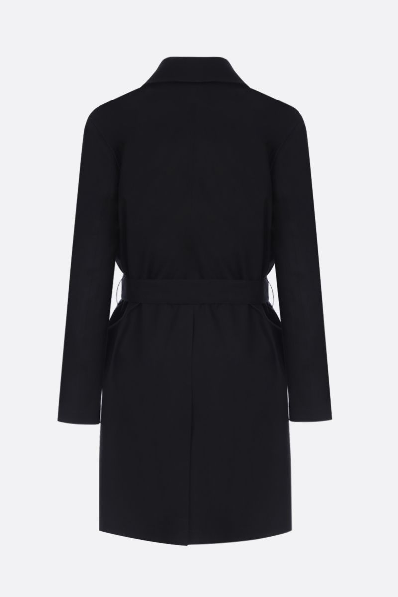 SAINT LAURENT: cotton single-breasted trench coat Color Black_2