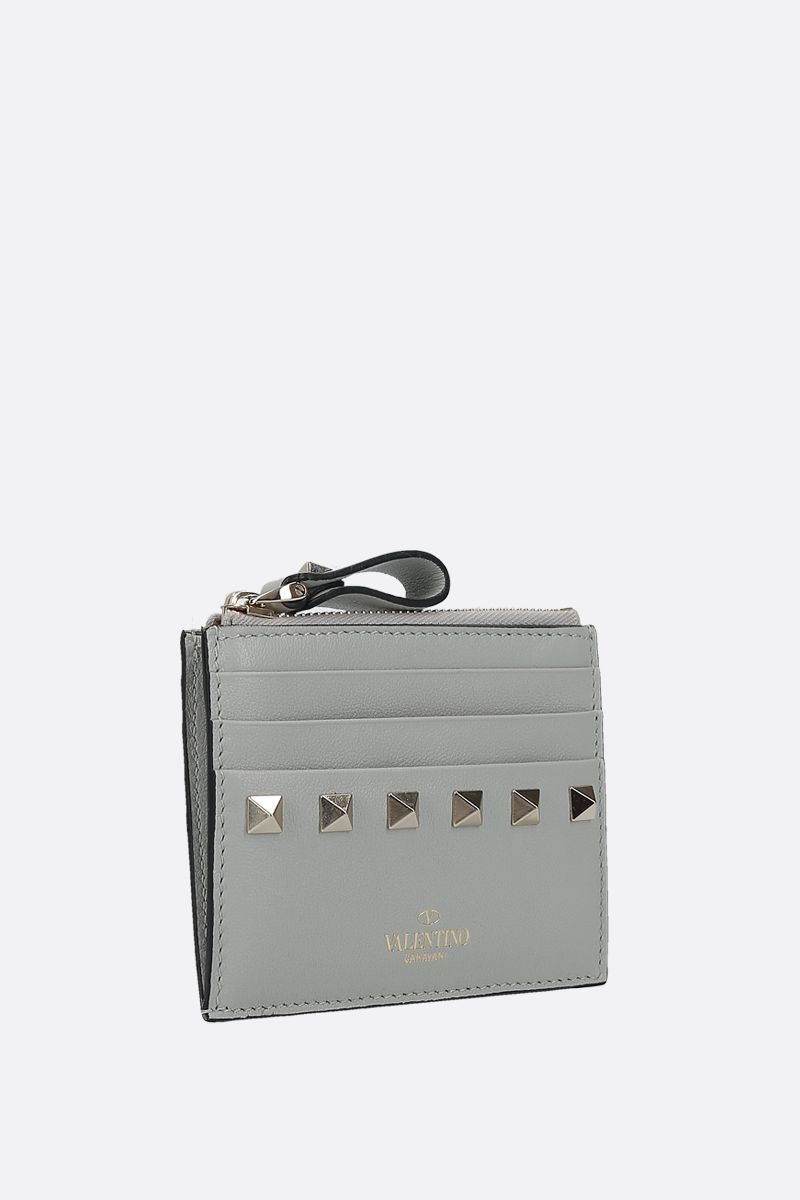 VALENTINO GARAVANI: Rockstud smooth leather card case_2