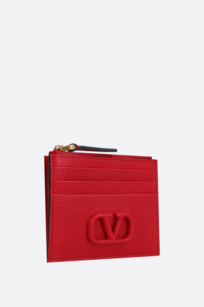 VALENTINO GARAVANI: VSLING grainy leather zip card case_2