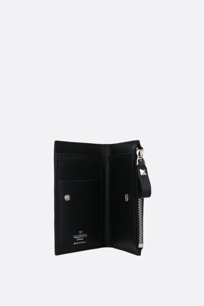 VALENTINO GARAVANI: VLTN smooth leather card case_2