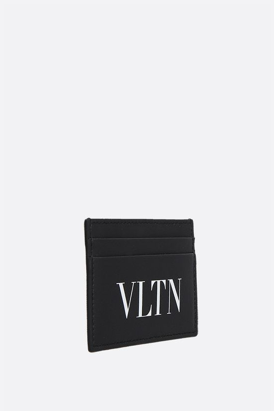 VALENTINO GARAVANI: VLTN smooth leather card case Color Black_2