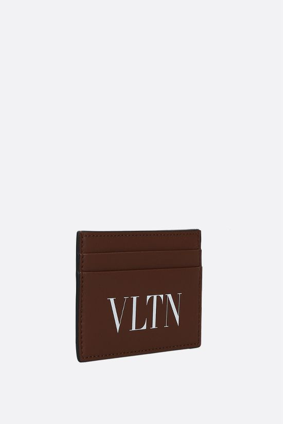 VALENTINO GARAVANI: VLTN smooth leather card case Color Brown_2