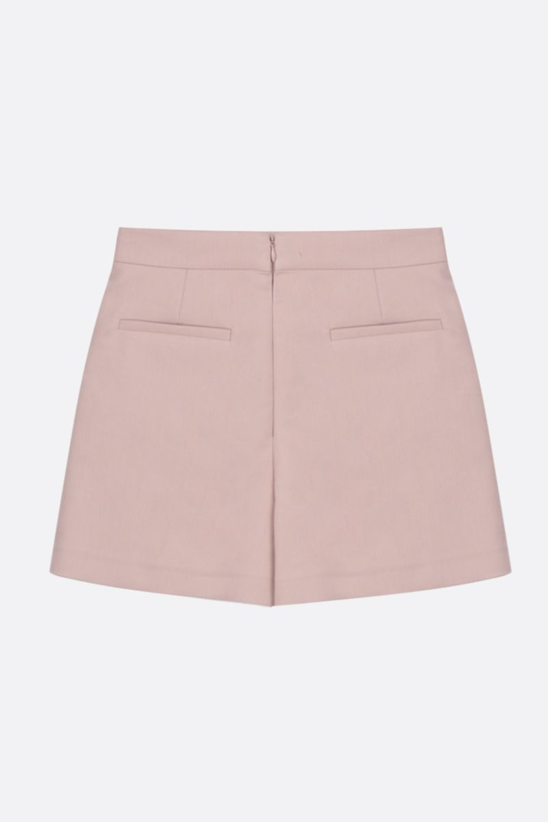 RED VALENTINO: bow-detailed stretch cady shorts Color Pink_2