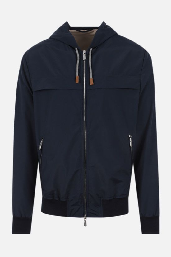 ELEVENTY: technical wool bomber jacket Color Blue_1