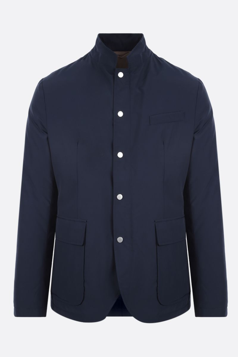 ELEVENTY: tech wool padded overshirt Color Blue_1