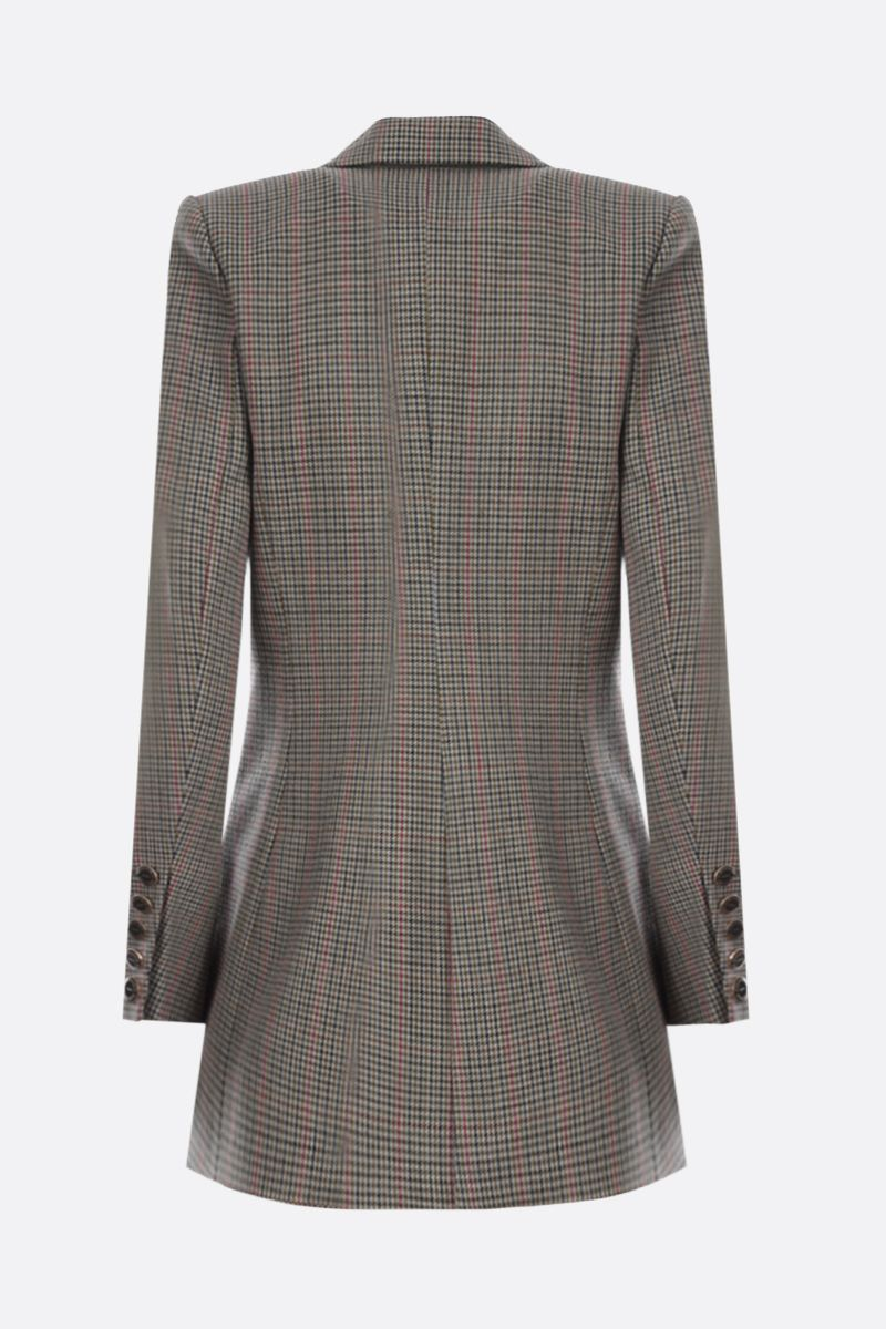 ALEXANDRE VAUTHIER: houndstooth wool double-breasted jacket Color Green_2