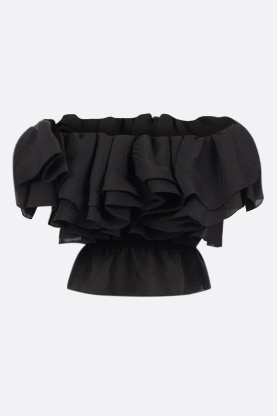 ALEXANDRE VAUTHIER: piquet off-the-shoulder top Color Black_2