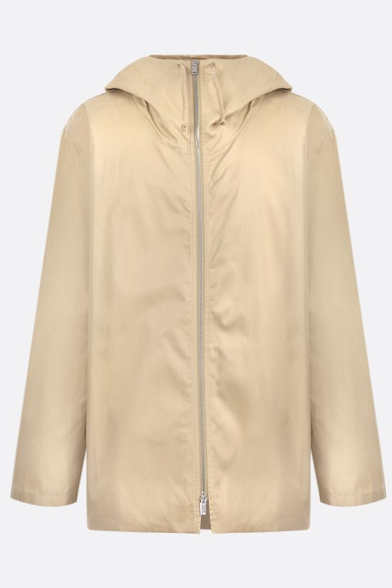 JIL SANDER: cotton gabardine full-zip jacket Color Neutral_1