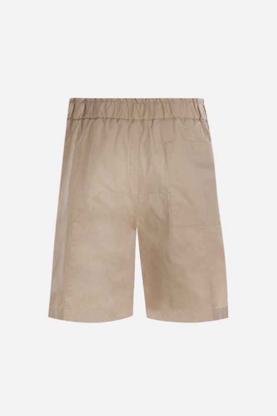 JIL SANDER: cotton gabardine shorts Color Neutral_2