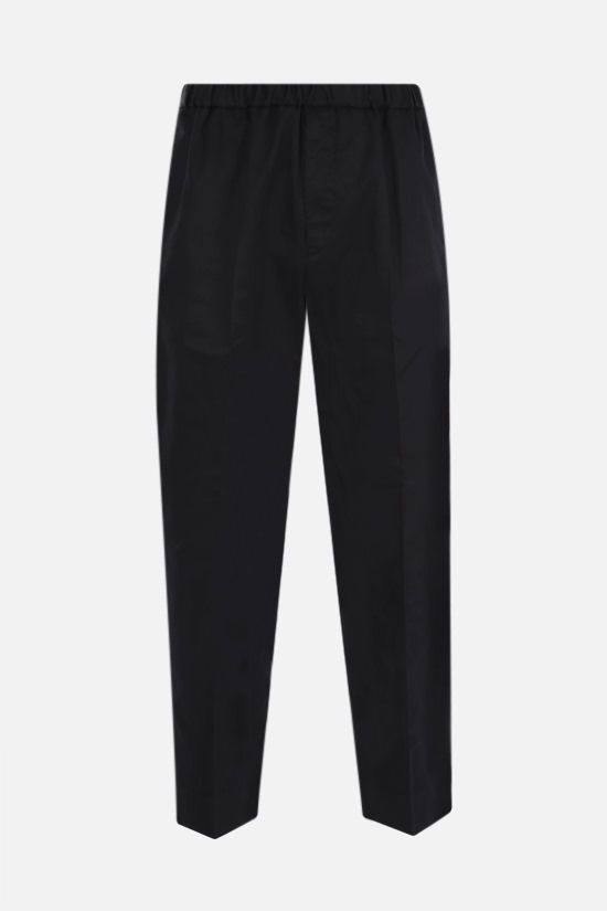 JIL SANDER: cotton gabardine cropped pants Color Black_1