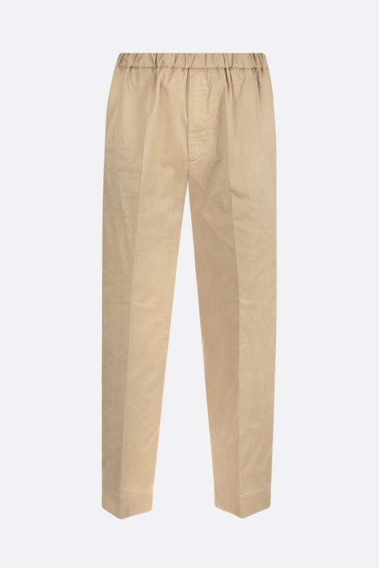 JIL SANDER: cotton gabardine cropped pants Color Neutral_1