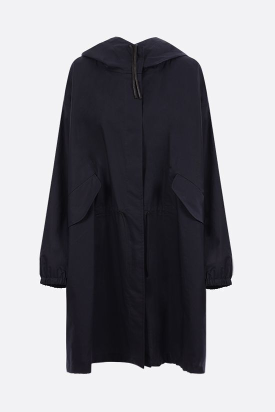 JIL SANDER: Essential Outdoor oversize cotton parka Color Blue_1