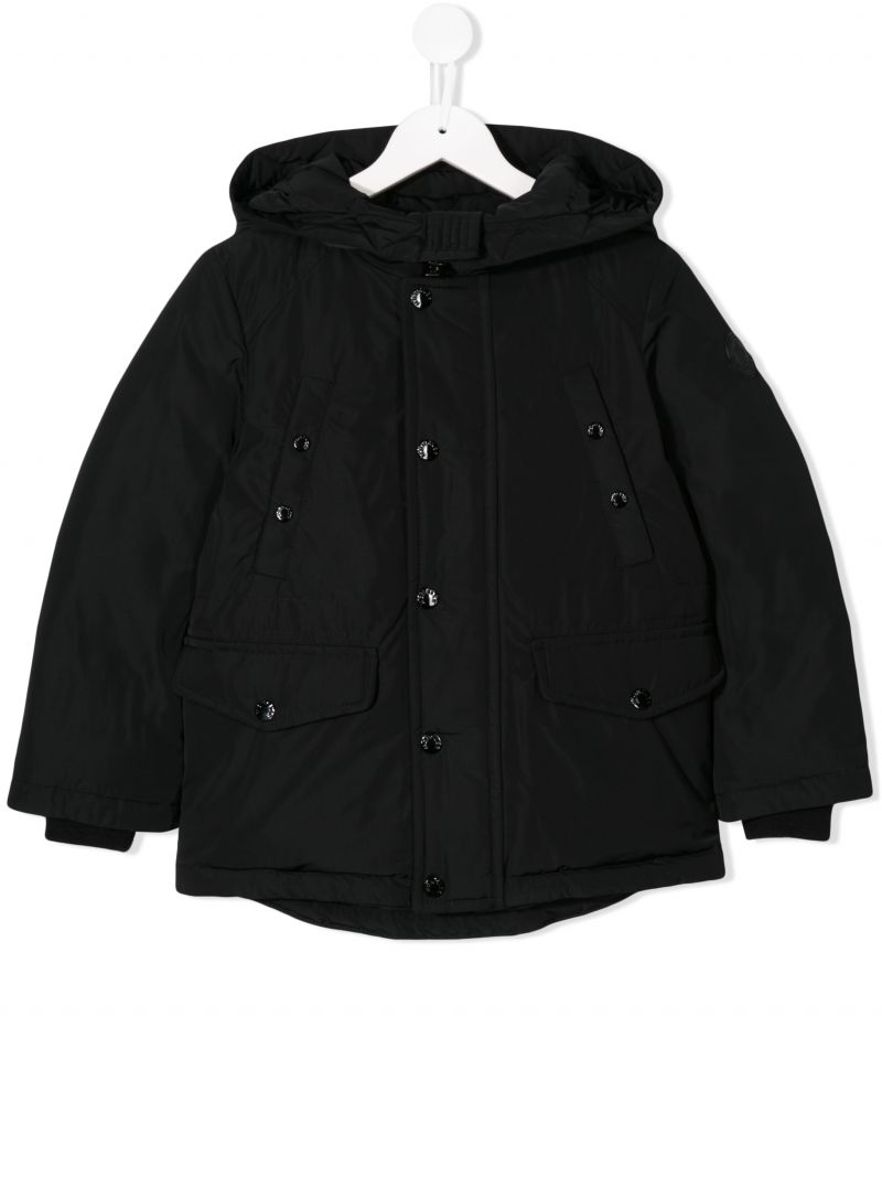 MONCLER KIDS: Salagou down jacket in technical fabric Color Black_1