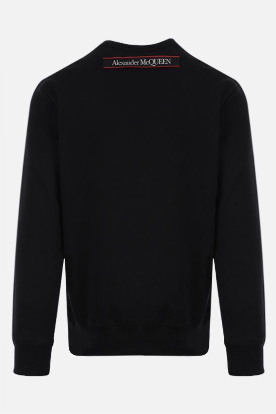 ALEXANDER McQUEEN: logo-detailed cotton sweatshirt Color Black_2