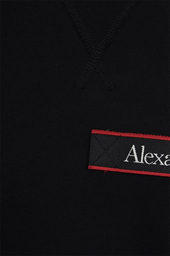ALEXANDER McQUEEN: logo-detailed cotton sweatshirt Color Black_3
