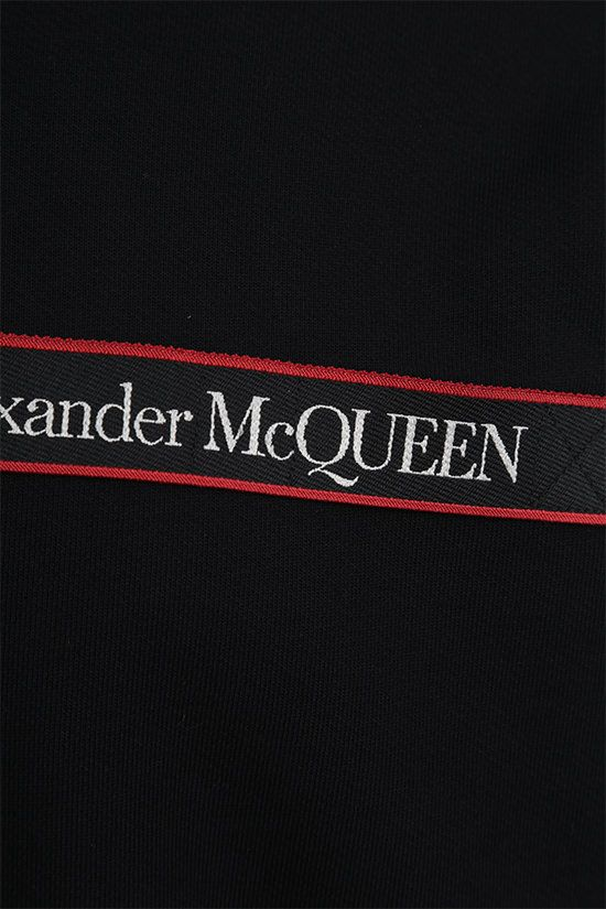 ALEXANDER McQUEEN: logo-detailed cotton sweatshirt Color Black_4