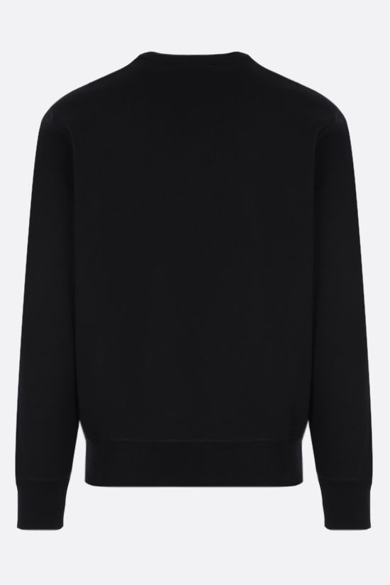 ALEXANDER McQUEEN: Skull embroidered cotton sweatshirt Color Black_2