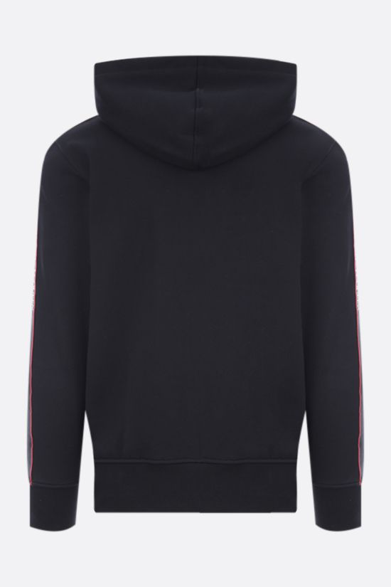 ALEXANDER McQUEEN: logo-detailed full-zip cotton hoodie Color Black_2