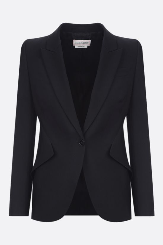 ALEXANDER McQUEEN: single-breasted wool jacket Color Black_1