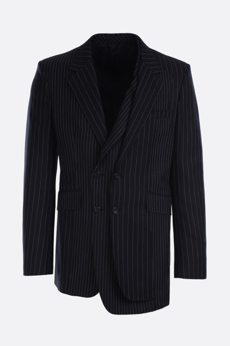 ALEXANDER McQUEEN: pinstriped wool double-breasted jacket Color Multicolor_1