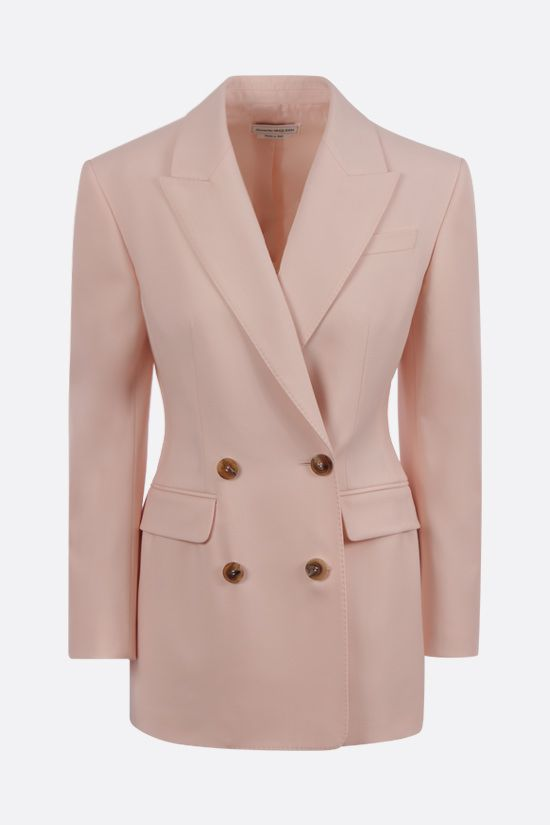 ALEXANDER McQUEEN: double-breasted wool jacket Color Pink_1