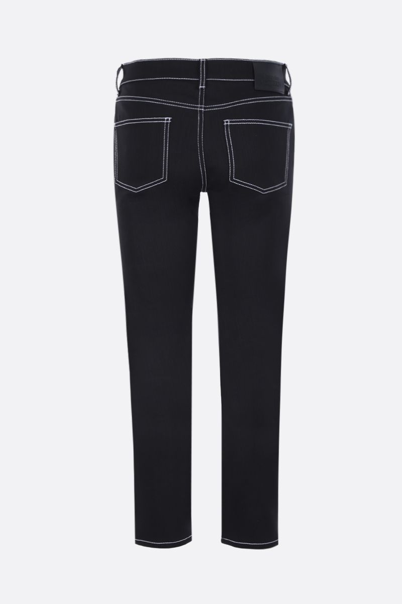 ALEXANDER McQUEEN: slim-fit jeans with contrast topstitching Color Black_2