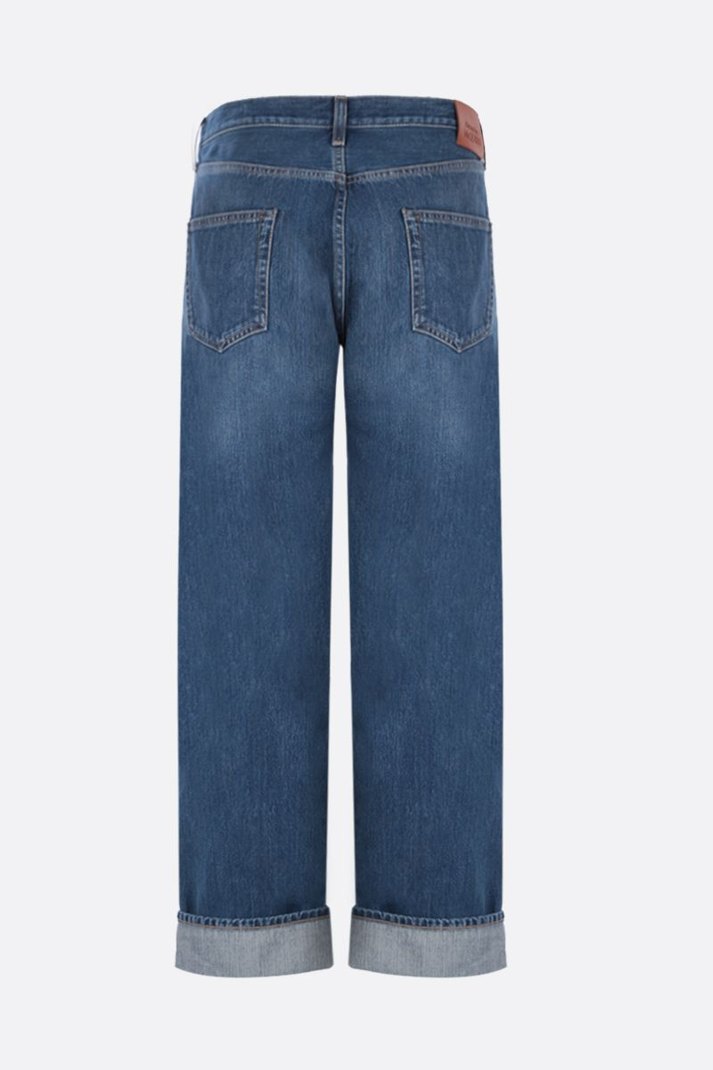 ALEXANDER McQUEEN: oversized turn-up jeans Color Blue_2