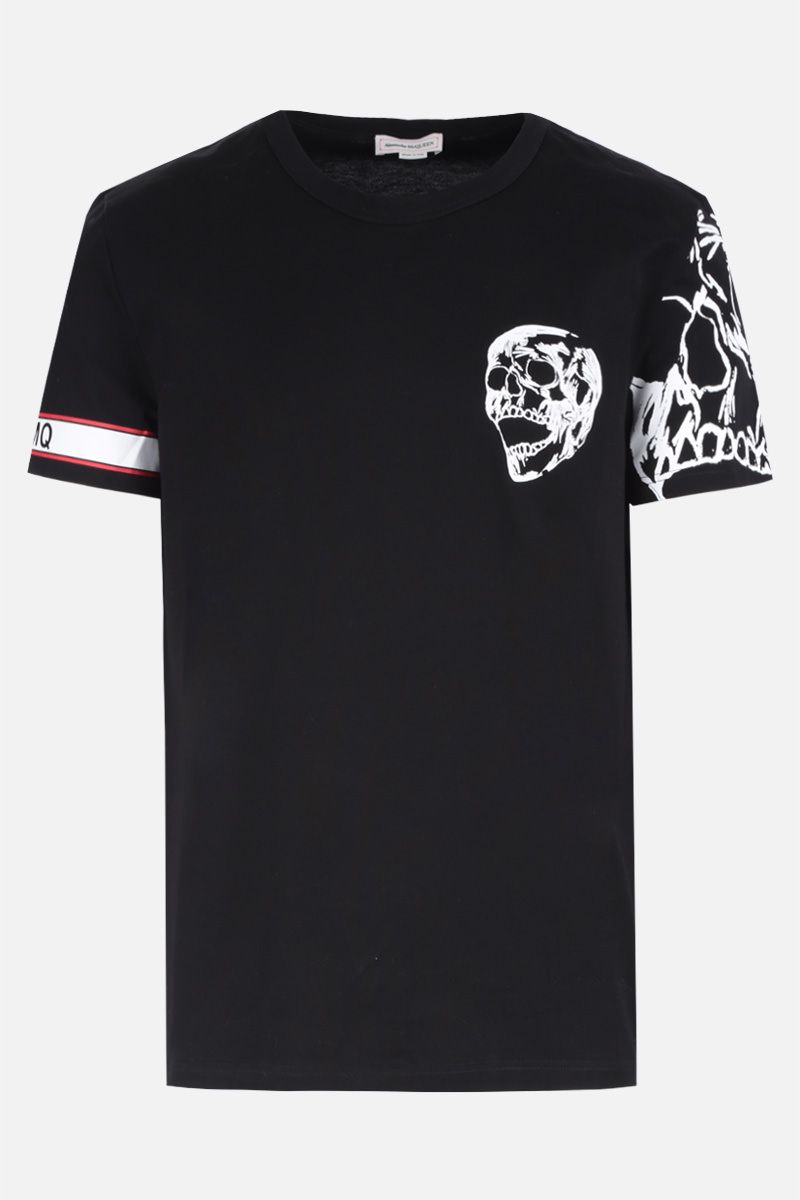 ALEXANDER McQUEEN: Skull and biker graphic print jersey t-shirt Color Black_1
