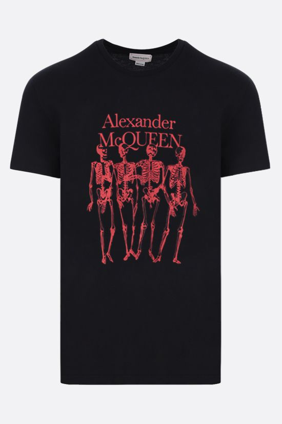 ALEXANDER McQUEEN: oversize Skull print cotton t-shirt Color Black_1