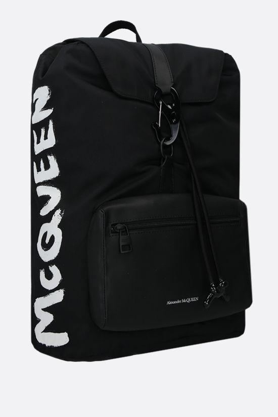 ALEXANDER McQUEEN: Urban nylon backpack Color Black_2