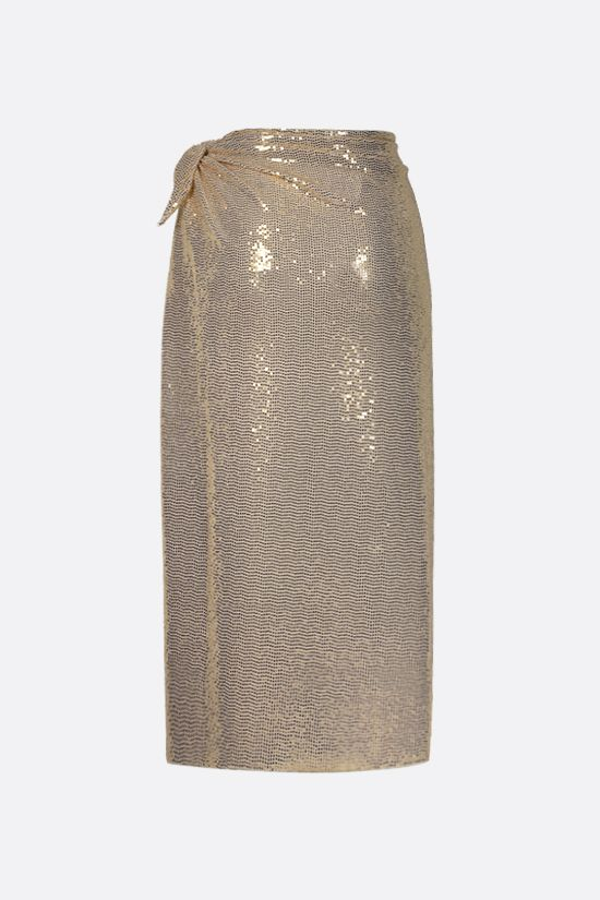 OSEREE: Disco sequinned jersey long skirt Color Gold_2
