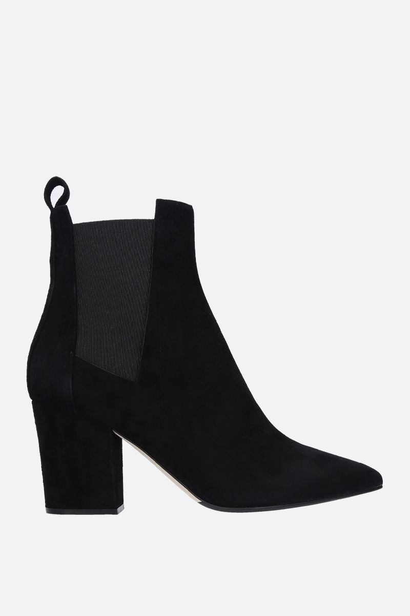 SERGIO ROSSI: Sergio ankle boots in suede Color Black_1