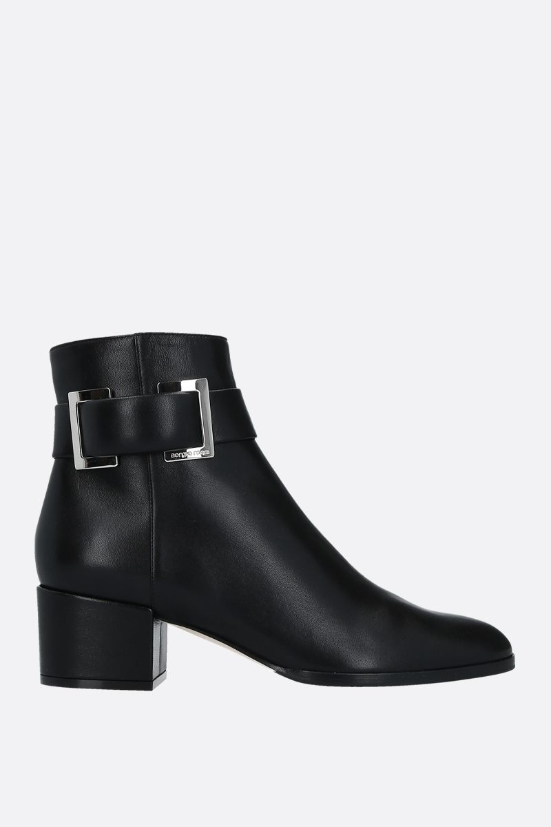 SERGIO ROSSI: SR Prince soft nappa booties Color Black_1