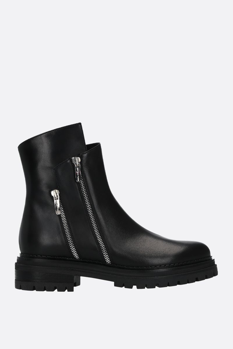 SERGIO ROSSI: Sergio Rider smooth leather ankle boots Color Black_1