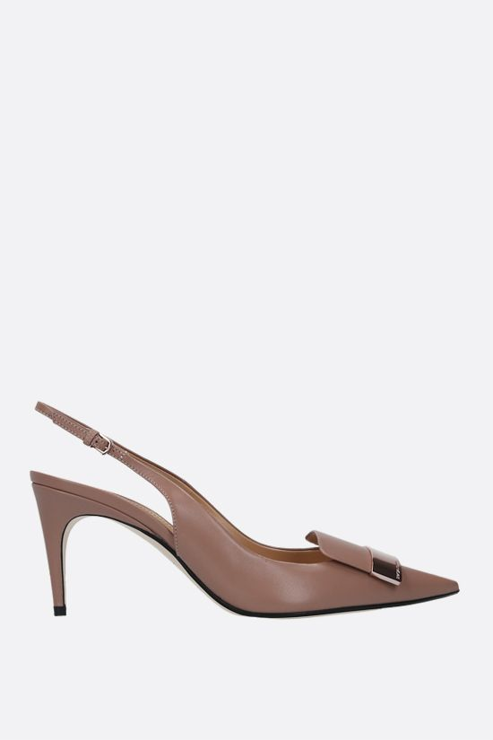 SERGIO ROSSI: sr1 nappa slingbacks Color Neutral_1