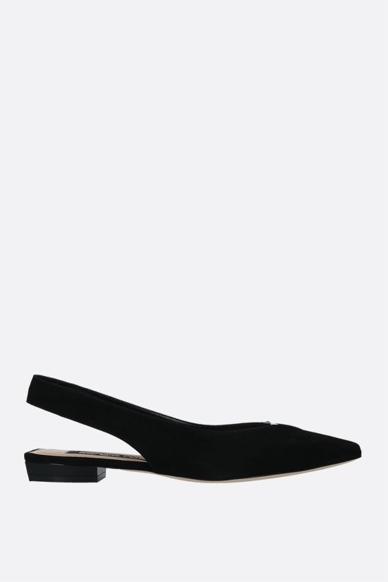 SERGIO ROSSI: SR Milano suede slingbacks Color Black_1