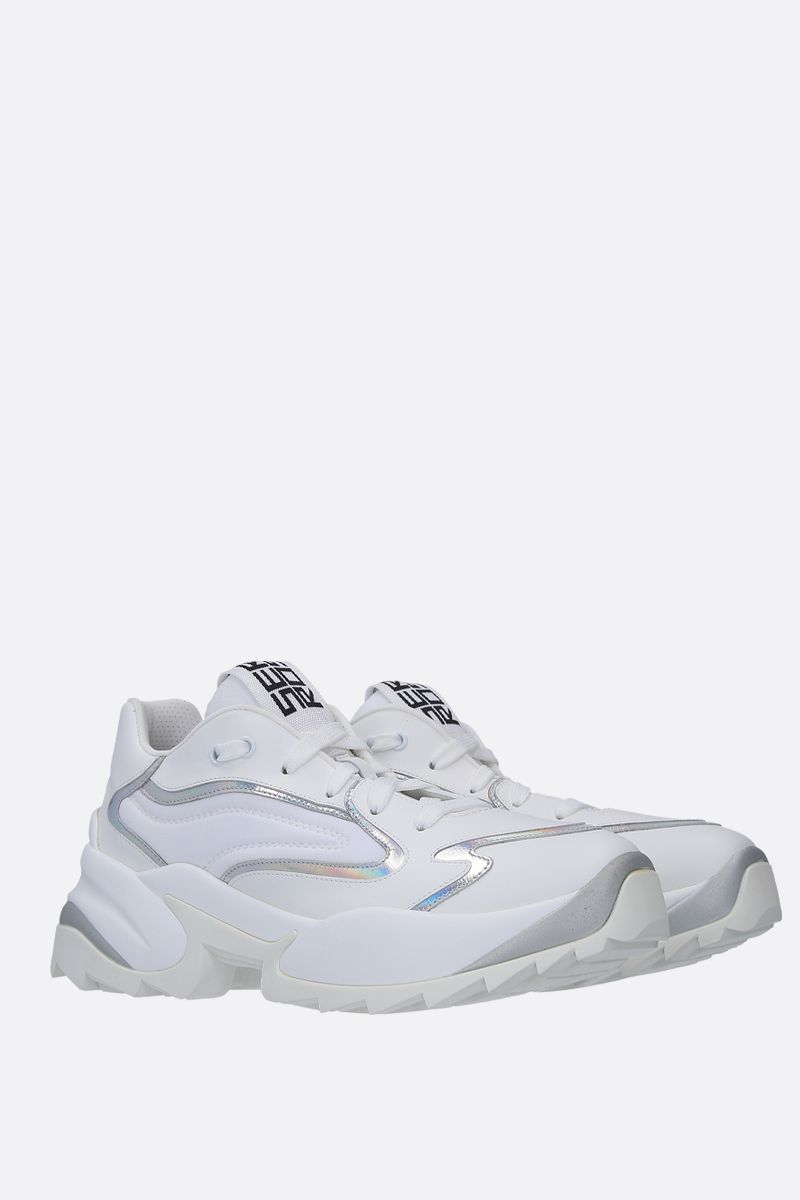 SERGIO ROSSI: Sergio Extreme sneakers in smooth leather and neoprene Color White_2