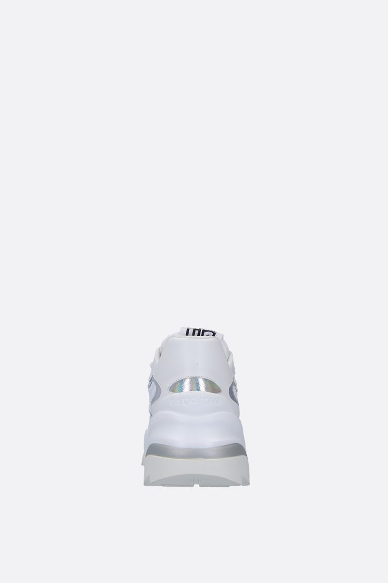 SERGIO ROSSI: Sergio Extreme sneakers in smooth leather and neoprene Color White_3