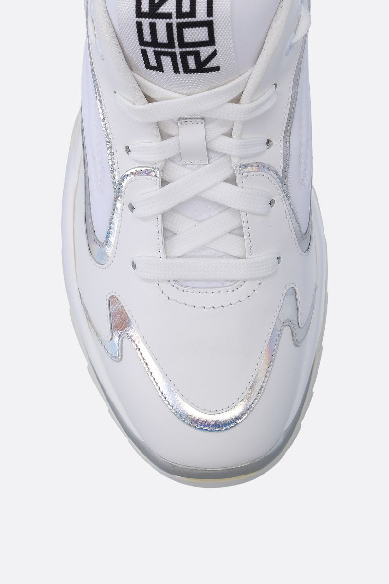 SERGIO ROSSI: Sergio Extreme sneakers in smooth leather and neoprene Color White_4