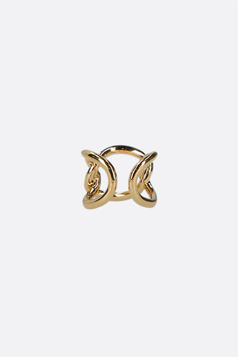 FEDERICA TOSI: Bolt brass ring Color Gold_2