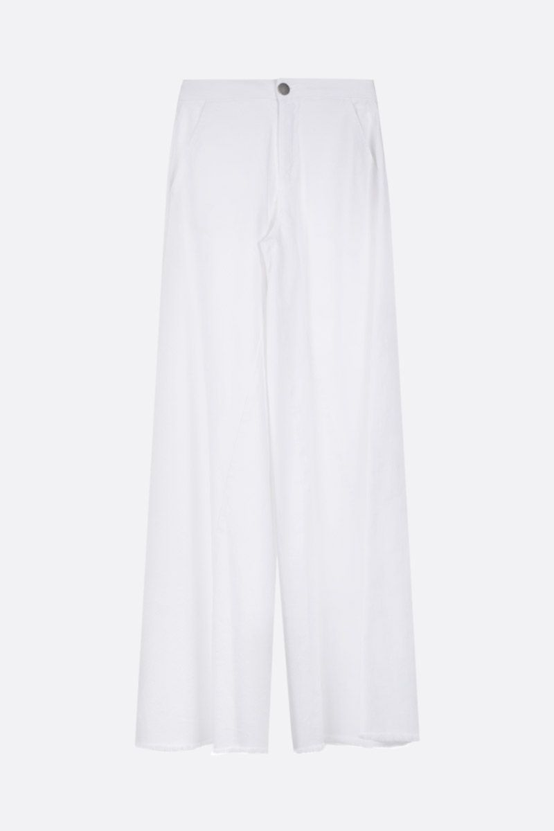 FEDERICA TOSI: flare jeans Color White_1