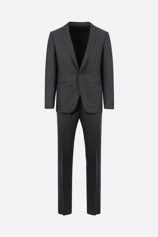 ERMENEGILDO ZEGNA: silk wool blend two-piece suit Color Grey_1