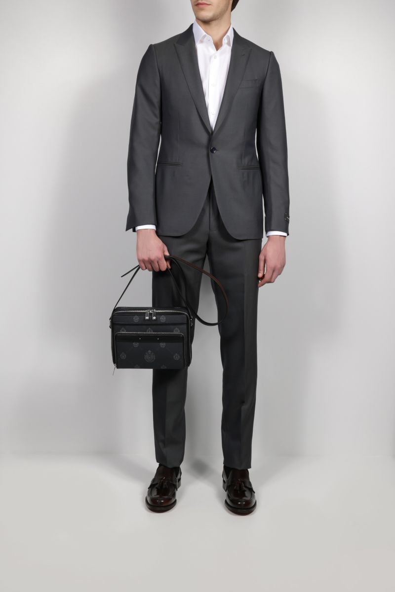 ERMENEGILDO ZEGNA: silk wool blend two-piece suit Color Grey_2