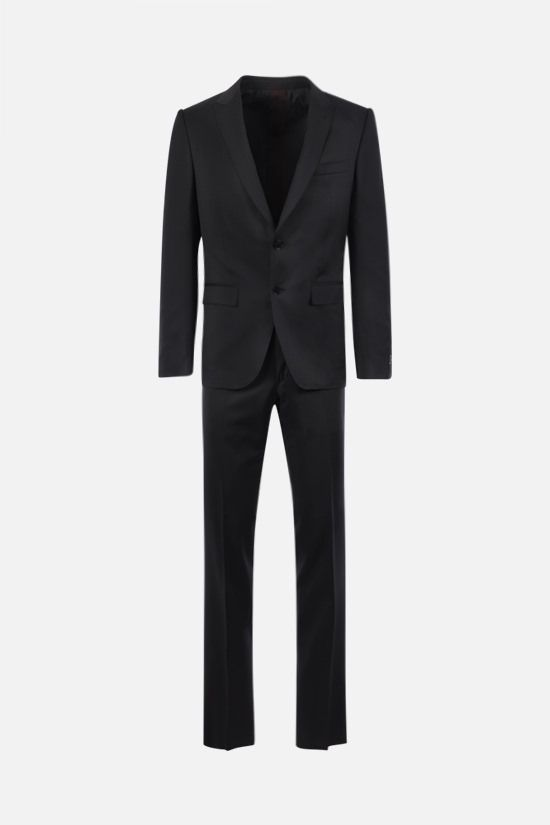 ERMENEGILDO ZEGNA: Multiseason micro check wool two-piece suit Color Grey_1