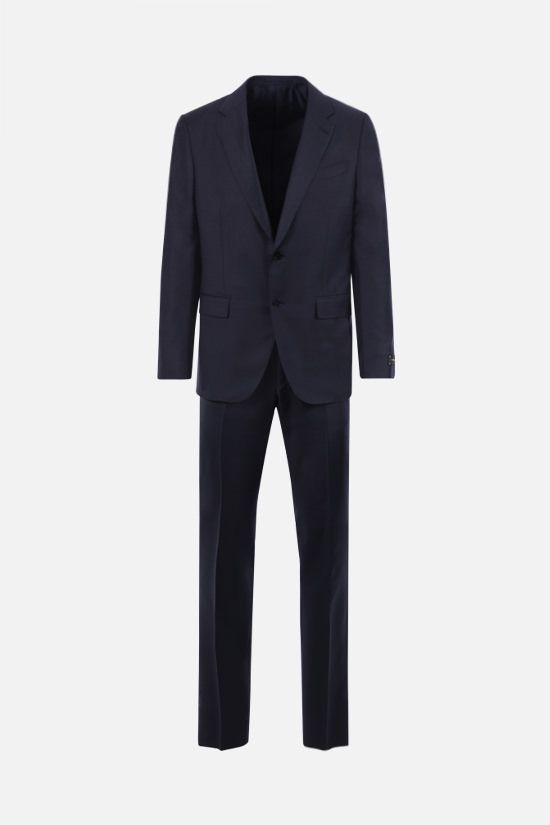 ERMENEGILDO ZEGNA: Milano Easy micro check wool two-piece suit Color Blue_1