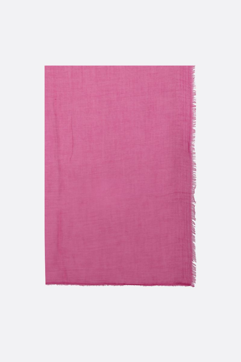 FALIERO SARTI: Tobia U stole in modal silk blend Color Pink_1