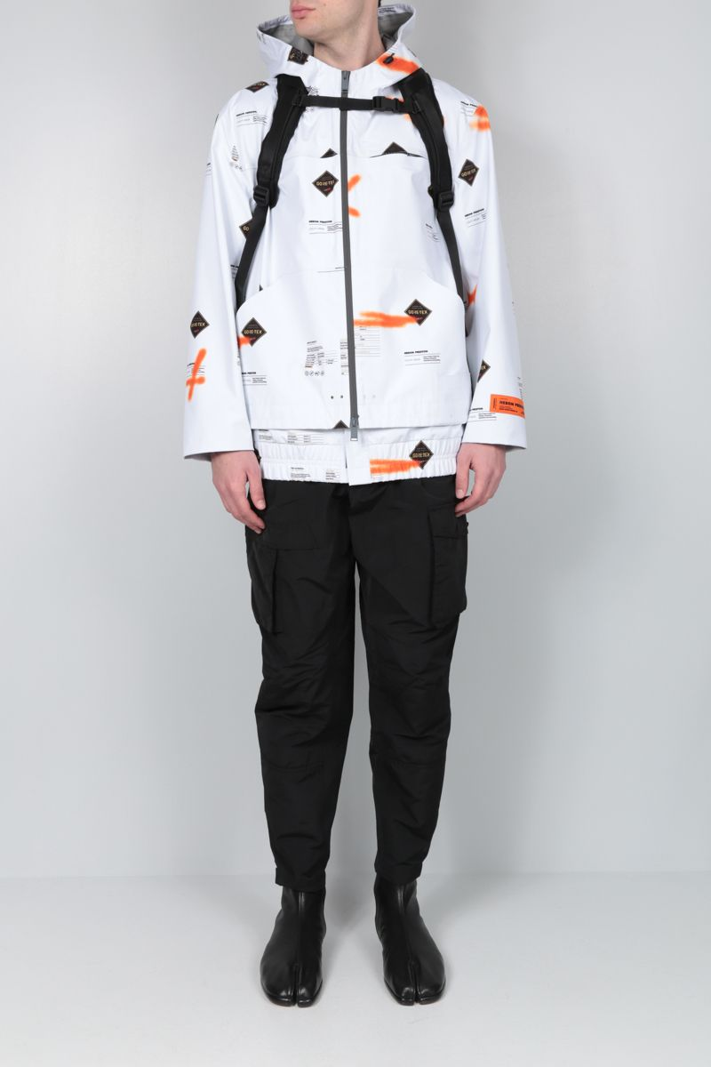 HERON PRESTON: Goretex nylon windbreaker Color White_2