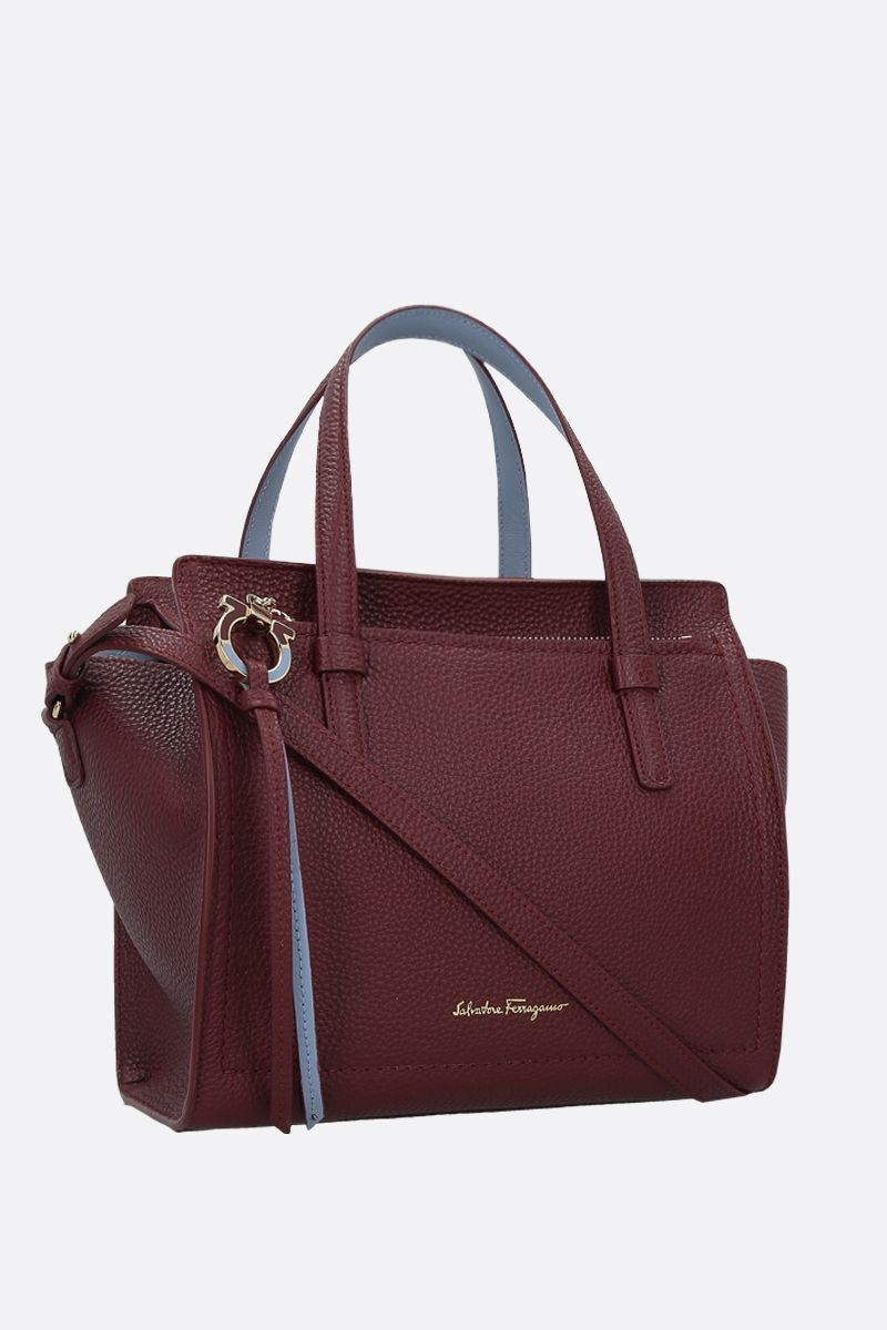 SALVATORE FERRAGAMO: Amy grainy leather handbag_2